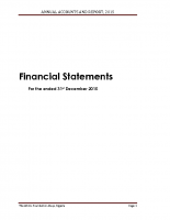 TAF 2015 Annual Account Statement