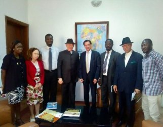 French Ambassador to Nigeria with some staff of the foundation
