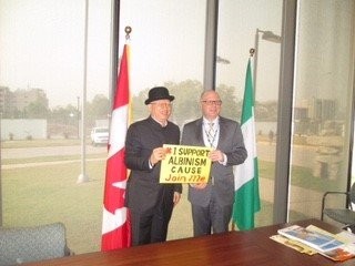 Canadian Ambassador to Nigeria with Mr. Jake Epelle