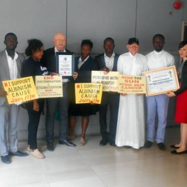The Albino Foundation Honoured by TRANS-African Students' Initiative (TRASI)