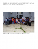 ADVOCACY AND PWA CAPACITY BUILDING REPORT